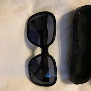 Chanel Black Quilted Oversized Sunglasses-5124